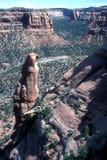 kanjonökenlandskap Arkivfoto