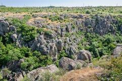 kanjon Aktovsky kanjon Naturlig nationalpark`-Bugsky Gard `, ukraine Royaltyfri Bild