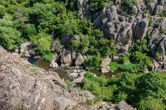 kanjon Aktovsky kanjon Naturlig nationalpark`-Bugsky Gard `, ukraine Arkivfoton
