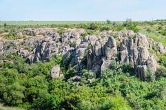 kanjon Aktovsky kanjon Naturlig nationalpark`-Bugsky Gard `, ukraine Royaltyfria Foton