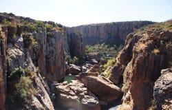 Kanjon av den Blyde floden i Sydafrika Arkivfoto
