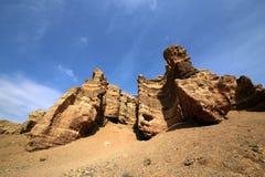 Kanjon av den Charyn floden royaltyfri foto