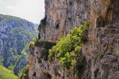Kanjon av Vikos Arkivbilder