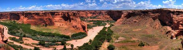 kanjon chelly de panorama Arkivfoton
