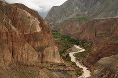 Kanjon Cotahuasi, Peru Royaltyfria Foton