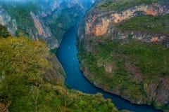 Kanjon del Sumidero nationalpark Arkivfoton