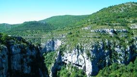 Kanjon du Verdon Arkivfoto