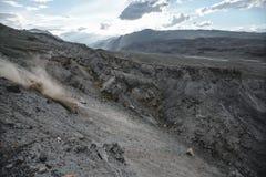 Kanjon efter den massiva jordskalvet Arkivbilder