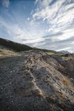 Kanjon efter den massiva jordskalvet Royaltyfria Foton