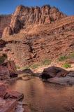 Kanjon för flod för AZ-UT-Paria Kanjon-Vermillion klippavildmark-Paria Arkivfoto