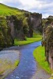 Kanjon Fjadrargljufur och flod Royaltyfri Bild