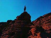 Kanjon i Egypten Fotografering för Bildbyråer