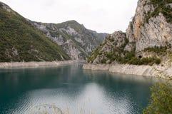 Kanjon i Montenegro Arkivbilder
