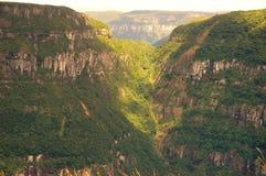 Kanjon i sydliga Brasilien Arkivbilder