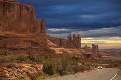 Kanjon i USA Arkivbild