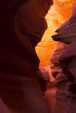 Kanjon med väggar av brandsand Arkivbild