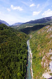 kanjon montenegro tara Fotografering för Bildbyråer