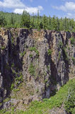 Kanjon nära Thunder Bay Royaltyfri Fotografi