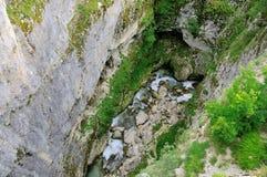 Kanjon Nevidio, flod Komarnica Royaltyfria Foton