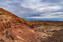 Kanjon Ridge av den Utah öknen arkivbilder