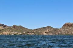 Kanjon sjö, Maricopa County, Arizona, Förenta staterna Royaltyfria Foton