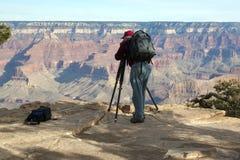 kanjon som fotograferar thegrand Fotografering för Bildbyråer