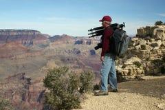 kanjon som fotograferar thegrand Royaltyfri Foto