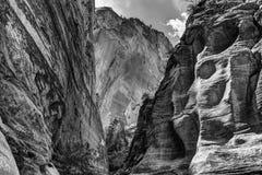Kanjon som fotograferas i Zion National Park i Utah, USA Royaltyfria Foton