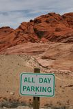 kanjon som parkerar den röda rocken Arkivbilder