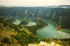 Kanjon Uvac Arkivbilder