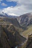 Kanjon Voringsfossen Fotografering för Bildbyråer
