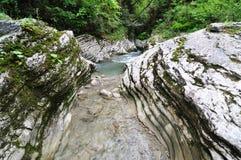 kanjonbergflod Fotografering för Bildbyråer
