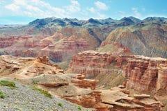 kanjoncharyn kazakhstan Arkivbild