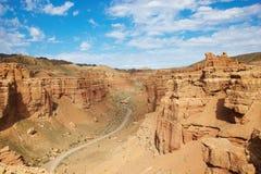 kanjoncharyn kazakhstan Royaltyfria Foton
