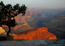 kanjonen colors storslagen soluppgång arkivbilder