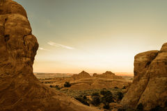 Kanjoner i solnedgången arkivbilder