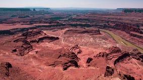 Kanjoner och Coloradofloden, Utah arkivbilder