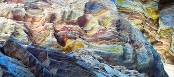 kanjonfärgdahab egypt Arkivbilder