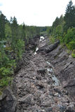 Kanjonflod Vuoksa royaltyfri foto