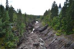 Kanjonflod Vuoksa arkivfoto
