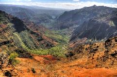 kanjonhawaii kauai waimea Arkivfoton