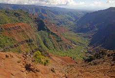 kanjonhawaii kauai waimea Royaltyfri Bild