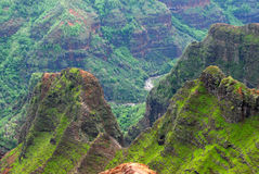 kanjonhawaii kauai waimea Royaltyfria Bilder