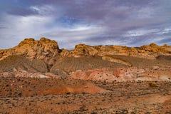 Kanjonklippor av den Utah öknen royaltyfri bild