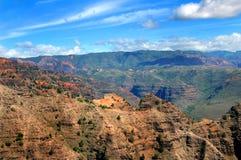 Kanjonlager av den Waimea kanjondelstatsparken arkivbild