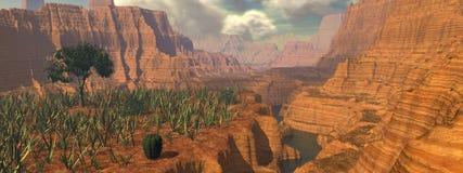 kanjonpanorama Arkivfoton