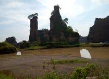 Kanjonsemarang för panorama brun stad indonesia Royaltyfria Bilder