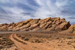 Kanjonslingor av den Utah öknen arkivbild