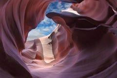 kanjonutgångsöppning Arkivbild