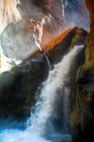 kanjonvattenfall Royaltyfri Fotografi